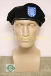 US MILITARY Black Beret W/ Flash SIZE 8 NEW IN BAG UNISSUED