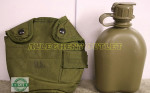 US MILITARY 1 QT CANTEEN OD W/ CASE & ALICE CLIPS NICE