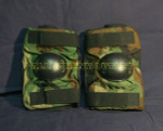US GI MILITARY BIJAN WOODLAND CAMO Tactical Paintball Elbow Pads VERY GOOD CONDITION