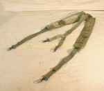 US MILITARY ARMY OLIVE DRAB LBE Y SUSPENDERS VERY GOOD CONDITION