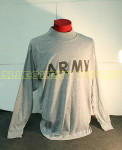 US ARMY Grey Army PT LONG SLEEVED T-Shirt VERY GOOD CONDITION