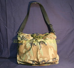 US MILITARY WOODLAND CAMO HELMET FLYERS BAG w/ STRAP NICE CONDITON