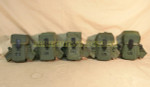 USGI MILITARY LOT of 5 AMMO POUCHES w/ Alice Clips VERY GOOD