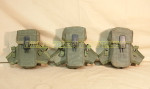 USGI MILITARY LOT of 3 AMMO POUCHES w/ Clips VERY GOOD