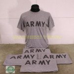 LOT OF 5 US MILITARY Grey Army PT T-Shirts LARGE NICE