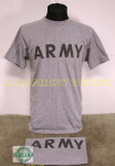 LOT OF 2 US MILITARY Grey Army PT T-Shirts LARGE NICE