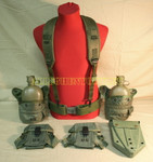 NICE US Army LBE w/ Canteen / Ammo Pouches / e-tool cover / LARGE BELT