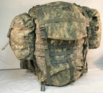 U.S. ARMY MOLLE II ACU DIGITAL LARGE RUCK SACK FRAME STRAPS PADS AND (2) SUSTAINMENT POUCHES VERY GOOD CONDITION