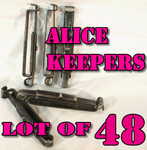 GENUINE U.S. MILITARY ISSUE ALICE CLIPS / BELT KEEPERS LOT OF (48) VERY GOOD CONDITION