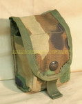 QTY (2) Two US MILITARY SDS MOLLE WOODLAND CAMO GRENADE POUCH 4130 NEW / LIKE NEW CONDITION