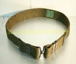US MILITARY Canteen Pistol Web Belt BRASS HOOK LARGE VERY GOOD CONDITION