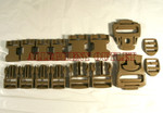 GENUINE U.S. MILITARY ISSUE  (10) TEN SETS MOLLE II 16 Piece Desert/Coyote Tan Replacement Repair Buckle Set NEW IN BAG / UNISSUED
