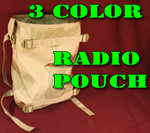 (2) TWO USGI MILITARY Molle II LCE Radio Pouch 3-Color Desert Camo NEW / UNISSUED CONDITION