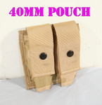 US MILITARY MOLLE II DESERT 3-COLOR 40MM PYRO DOUBLE AMMO POUCH NEW / UNISSUED CONDITION