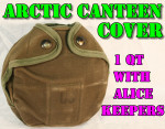 CANVAS ARCTIC CANTEEN COVER w/ ALICE KEEPERS VERY GOOD CONDITION