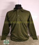 US MILITARY BUTTON UP TOP LIGHTWEIGHT THERMAL GREEN UNDERWEAR SHIRT MEDIUM NEW / LIKE NEW CONDITION