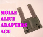 GENUINE U.S. MILITARY ISSUE  (5) BRAND NEW USGI MILITARY ACU Foliage MOLLE II ALICE CLIP Adapters NEW IN BAG / UNISSUED CONDITION