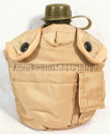 U.S. ARMY TYPE 1 QUART TAN CANTEEN COVER w/ ALICE KEEPERS (CANTEEN SOLD SEPARATELY) LIKE NEW CONDITION