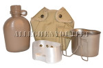 USGI Military SET 1QT Coyote Brown CANTEEN / Desert Tan COVER / Stainless Steel Butterfly CUP / STAND STOVE BRAND NEW / UNISSUED