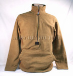 USMC POLARTEC 100 FLEECE 1/2 Zip PULLOVER JACKET Coat Shirt Coyote Brown Medium EXCELLENT