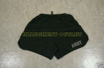 US ARMY PT Physical Training Fitness Reflective Shorts BLACK MEDIUM NICE
