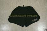 US ARMY PT Physical Training Fitness Reflective Shorts BLACK MEDIUM NICE