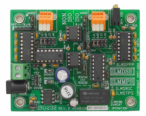 ISO232: Opto/Xformer Isolated Async RS232 to RS232 converter