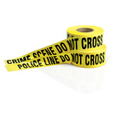 "Barricade Tape, Various Wording Choices, Yellow, 3"" x 1000'"