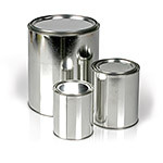 Metal Arson Evidence Cans, 1 Quart, Pack of 4