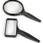 "Acrylic-Lens Hand-Held Magnifier, Rectangular, 2"" x 4"""