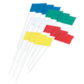 Evidence Marking Flags, Blank, With Plastic Posts, Pack of 100