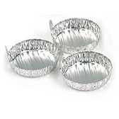 CA Fuming Aluminum Dishes, Pack of 100