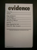 Kapak/Ampac Preprinted Evidence Labels, Roll of 100 ea