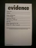 Kapak/Ampac Evidence Labels, Roll of 100 ea