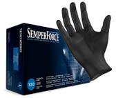 SemperForce® Black Nitrile Gloves, Box of 100