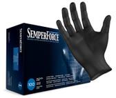 SemperForce® Black Nitrile Gloves, Box of 100