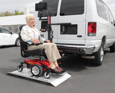 Wheelchair scooter lift car lift installation los for Motorized wheelchair lifts for cars