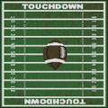 Football  Field Pillow