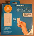 Lutron P-PKG1W-WH Caseta Wireless 600-watt/150-watt Multi-Location In-Wall Dimmer with Pico Remote Control Kit, White