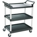 "Rubbermaid Utility Cart With 4"" Swivel Casters - Black"
