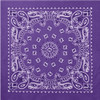 "22"" Purple Trainmen Paisley Bandana"