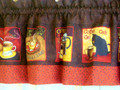 Coffee Cat Cafe Curtains-Valance
