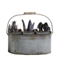 Tin Caddy w/6 Compartments and handle