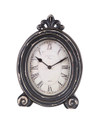 Black Wood table Clock w/Feet