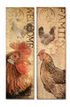 Set of 2 French Rooster Canvas Pictures