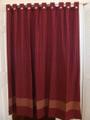 The Homestead Collection Wine / Oatmeal Bath Curtain