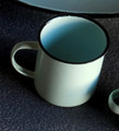 Enamel Mugs in Robin Egg Blue Color
