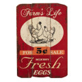 """Farm's Life Fresh Eggs"" Wall Art"