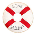 "Round Gone Sailing 16"" Pillow"