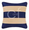 Navy and White Stripes Pillow